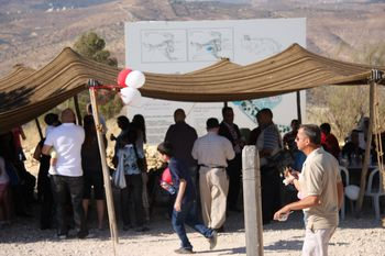 One of the Bedouin tents, overlooking King Talal reservoir