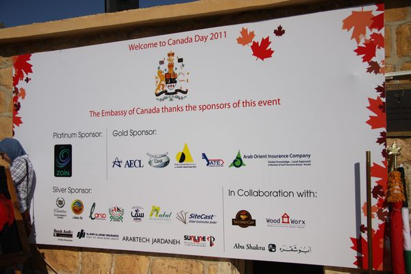 Canada Day Sponsors 2011