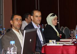 Khalid Al Khalidi, Hatem Taifour and Oraib Nawash of the RBG at GA 2011